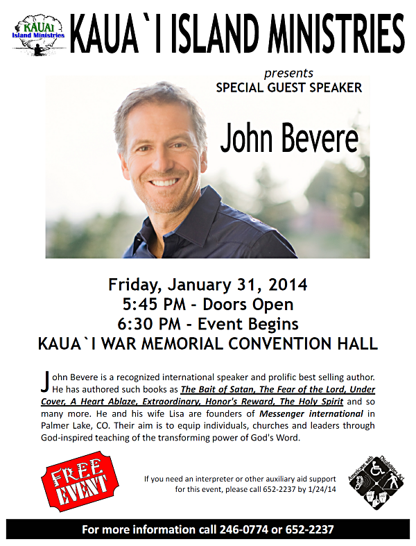 John Bevere On Kauai